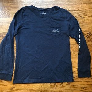 VINEYARD VINES long sleeve navy t shirt whale S
